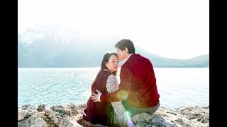 Banff and Lake Louise Engagement Photographer: Joohyun & Jinsu