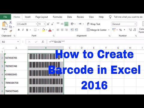 Download How To Create Barcode In Excel By Simple Way Video