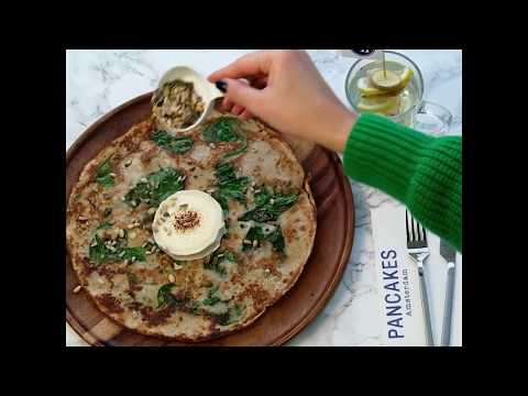 Pancake with goat cheese and spinach | PANCAKES Amsterdam