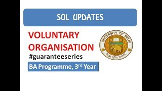 Voluntary Organisations I Important Questions I SOL