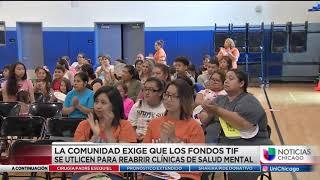La comunidad Exige Que Los Fondos TIF se Utilicen para reabrir Clinicas de Salud Mental