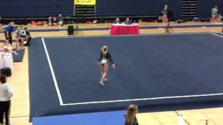 Kaitlyn Floor Arena Gymnastics Meet Joliet IL 2011