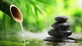 Bamboo water fountain [healing music BGM]