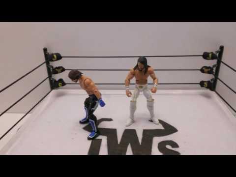 JWS - AJ Styles & Seth Rollins Trade Strikes