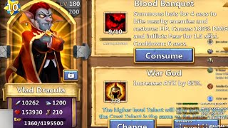 Castle Clash - Double Evolve Vlad Dracula & 10 Star Him (Crazy HP)