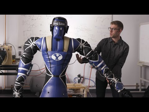 Inflatable robots destined for space