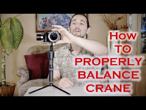 How to balance a Zhiyun Crane 2 Gimbal