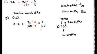 How to Convert Decimals to Fractions Part 1