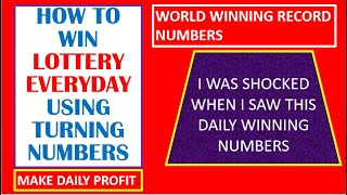 How To Win Lotto Everyday Using Turning Numbers/Top Ten Lottery Numbers Wining strategy #Lotto Code