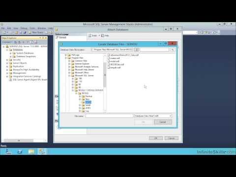 Microsoft SQL Server Exam 70-461 Tutorial | Attaching The Sample ...