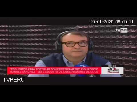 TV Perú. Entrevista con el jefe adjunto de la MOE UE sobre la declaración preliminar