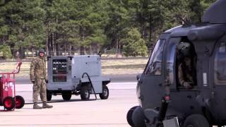 preview picture of video 'HH-60G Pave Hawk taxi and take-off in Flagstaff'