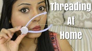 DIY Threading At Home HINDI | Slique Hair Threading Kit | Ria Rajendran