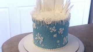FROZEN Elsa Theme Birthday Cake. Cake Decorating