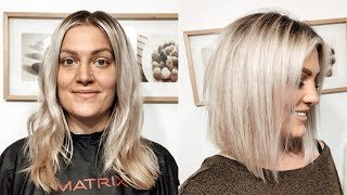 HOW TO CUT YOUR OWN HAIR INTO A BLUNT, ANGLED BOB