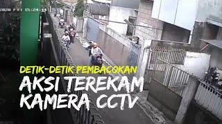 Video Viral Detik-detik Pembacokan di Cicendo Bandung, Aksi Terekam CCTV