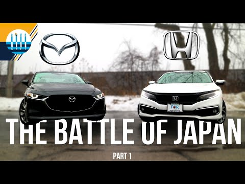 The Battle of Japan: Part 1 - HONDA CIVIC vs MAZDA 3