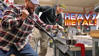 Bending Thick Aluminum and Axe Throwing - Paul Green Vlogs ep156