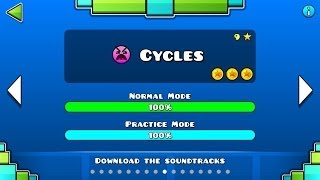 Geometry Dash - Level 9:Cycles (All Coins)