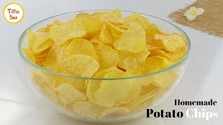 Homemade Crispy Potato Chips by Tiffin Box for kids   Quick and Easy Aloo Chips Recipe   Wafers