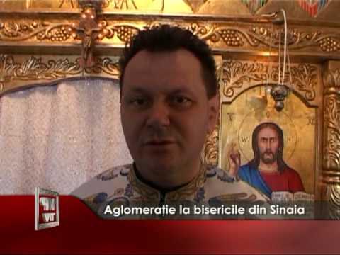 Aglomeraţie la bisericile din Sinaia