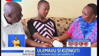 Miriam Wanjiku asimama ngangari licha ya ulemavu wake wa mikono