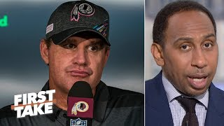 Jay Gruden's firing is 'too little too late' for the Redskins – Stephen A. | First Take
