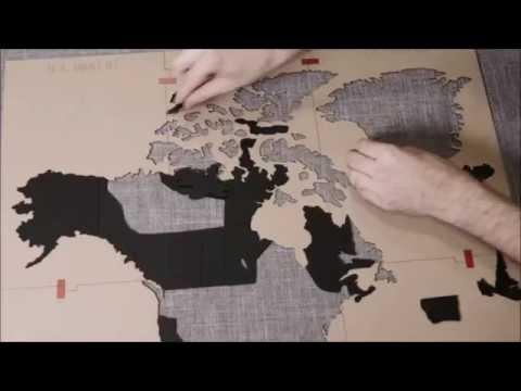 Geschenkidee.ch Do it yourself Puzzle-Weltkarte aus Holz