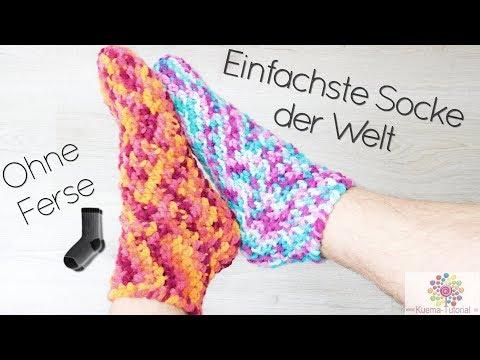 Socken Einfach Ab Ferse Häkeln Häkelsocke Fersika Teil 1