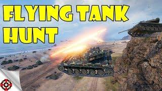 FLYING TANK HUNT! World of Tanks DERP Training (WoT, June 2018)