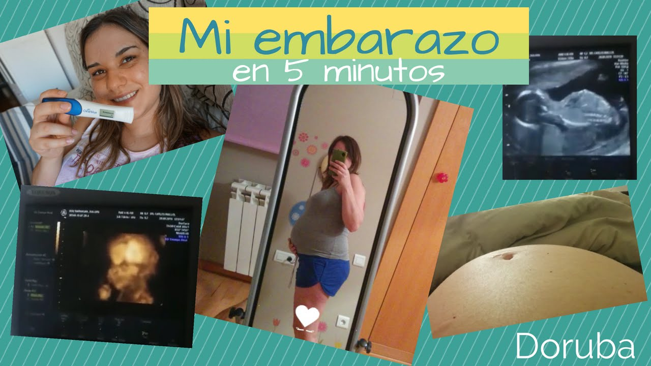 Mi embarazo en 5 minutos -- Evolución barriga y ecografias -- Doruba