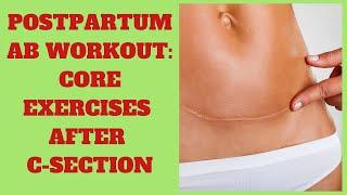 Postpartum Ab Workout! *Core Exercises After C-Section*   Dr K & Dr Wil