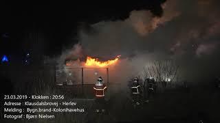 23.03.2019 – Ild i Kolonihavehus – Herlev