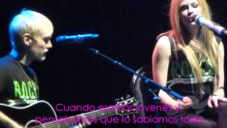 Evan Taubenfeld & Avril Lavigne - The Best Years Of Our Lives (Live) Sub Español HD