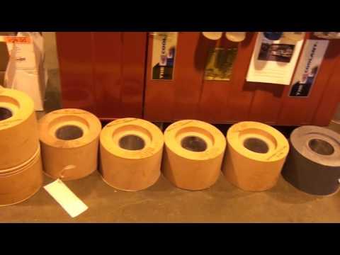 Royal Master centerless grinder thrufeed grinding large aluminum tubes