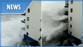 Massive waves devastate Tenerife during worst storm in 40 years
