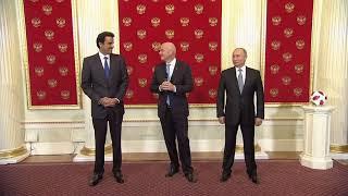Россия передала Катару эстафету проведения чемпионата мира пофутболу