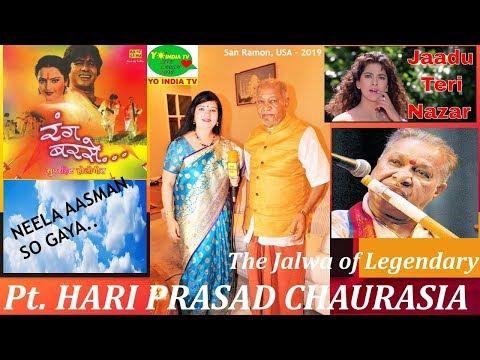 Pt. HARIPRASAD CHAURASIA Flute, Bollywood Music, Interview, Tihai USA  A Yo India TV Production