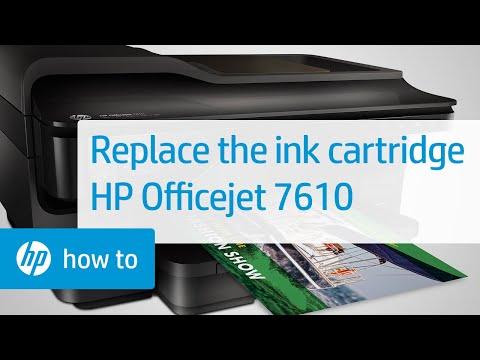 Hướng dẫn Cách thay mực máy in HP Officejet 7610 Wide Format e-All-in-One Printer