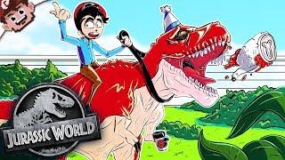 CREATING OUR OWN JURASSIC PARK! | My Dinosaur Escaped! (Jurassic World Evolution)