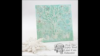 Let It Snow Mini Canvas For Gypsy Soul Laser Cuts