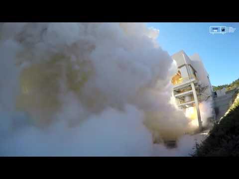 한국형발사체 75톤급 엔진 2호기 145초 연소시험 후류부 영상