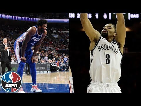 Dinwiddie and Embiid battle it out in Nets' win over Sixers | NBA on ESPN