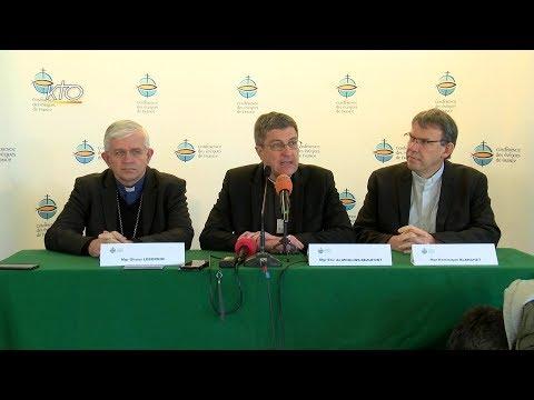 Conférence de presse de la nouvelle présidence de la Conférence des évêques de France