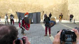 preview picture of video 'Show of Arms - Mdina Medieval Education'
