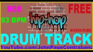 Rap Hip Hop Drum Track 93 bpm Loop FREE