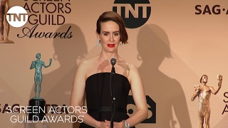 сериал Американская история ужасов, Sarah Paulson: Press Room Q&A | 23rd Annual SAG Awards | TNT