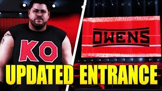 WWE 2K18 Kevin Owens Updated Entrance Graphics, Attire, and Custom Titantron! (w/Formula)