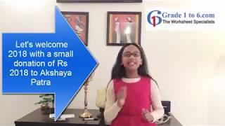 Lively Young Girl Bhavya Balaji Supports Akshaya Patra