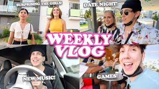 Surprising THE GIRLS, OUR FIRST DATE & Showing You NEW MUSIC!! || WEEKLY VLOG